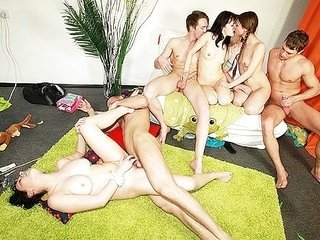 Naughty games leading to group sex